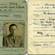 Serhij Sochocky, registration papers, Chief Medical Officer, Redgrave Park, England