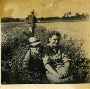 Serhij Sochocky with sister Olga, western Ukraine